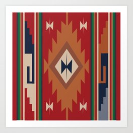 American Native Pattern No. 19 Art Print
