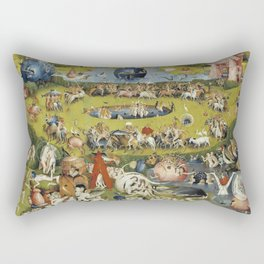 THE GARDEN OF EARTHLY DELIGHT - HEIRONYMUS BOSCH Rectangular Pillow
