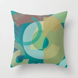 Cores em Semicírculos Q-1 Throw Pillow