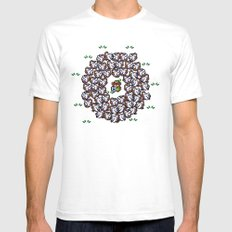 Link in  troubles  White SMALL Mens Fitted Tee