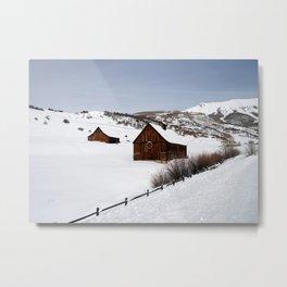 Snow Covered Cabin - Carol Highsmith Metal Print