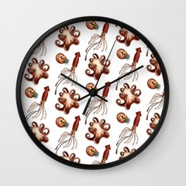 Steampunk octopus, squid and nautilus Wall Clock