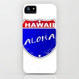Hawaii Interstate Sign iPhone Case