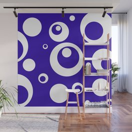Circles Dots Bubbles :: Blueberry Wall Mural