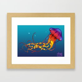 Jellyfish Red Framed Art Print