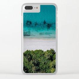 Maldivian island Clear iPhone Case