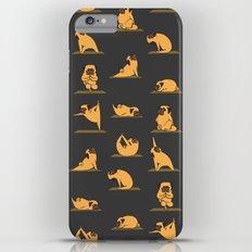 Pug Yoga // Black Slim Case iPhone 6 Plus