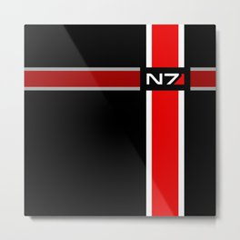 N7 The Effect Metal Print