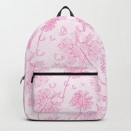 Dandelion Plants, Flower Heads - Pale Pink Backpack