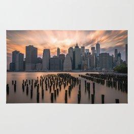 New york city long exposure Rug