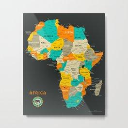 AFRICA MAP Metal Print