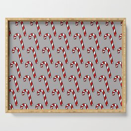 Candy Cane Pattern Serving Tray
