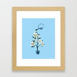 Canine Flowers Framed Art Print
