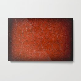 Brown puckered leather material abstract Metal Print