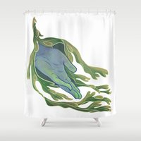 let it go Shower Curtains featuring Let Go by Rhea Ewing