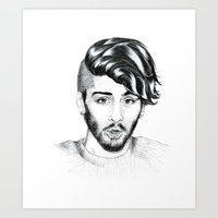 zayn Art Prints featuring Zayn by wreckthisjessy