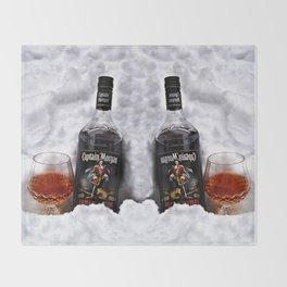 Ice Cold Captain Morgan Rum Throw Blanket