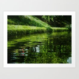 River Reflections Art Print