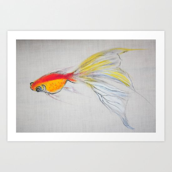 Goldfish Pond (close up#1) Art Print