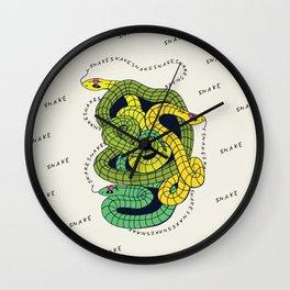 S-N-A-K-E-(S) II (pattern, color) Wall Clock