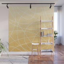 Scribble Linen - Sunflower Yellow Wall Mural