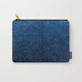 Woven Structure BLUE Carry-All Pouch