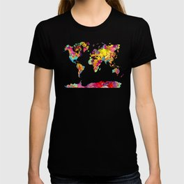 world map color art T-shirt