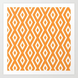 Orange Diamond Pattern Art Print
