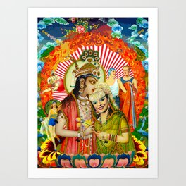 Mixed marriages Art Print
