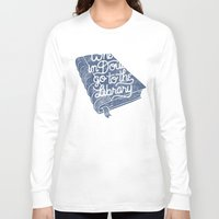 library Long Sleeve T-shirts featuring Library by WEAREYAWN