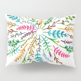 Radial Foliage Pillow Sham