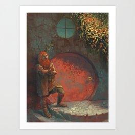 Berned Art Print