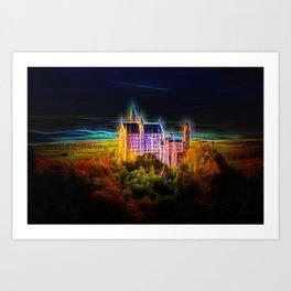 Fractal Castle neuschwanstein Art Print