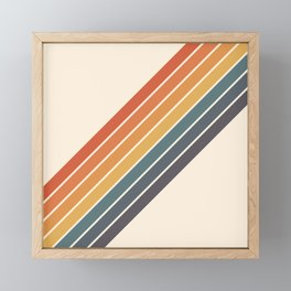 Arida -  70s Summer Style Retro Stripes Framed Mini Art Print