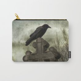 Gothic Crow Perched On A Old Cross Carry-All Pouch