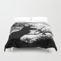 antlers Duvet Covers featuring Antlers by Sirli Raitma Photography