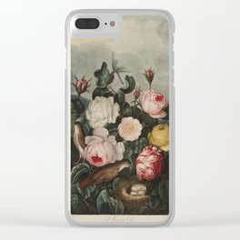 Thornton, Robert John (1768-1837) - The Temple of Flora 1807 - Roses Clear iPhone Case
