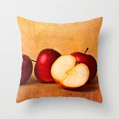 Apples In Red Panorama Throw Pillow
