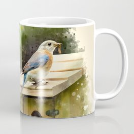Watercolor Bluebird Art Coffee Mug