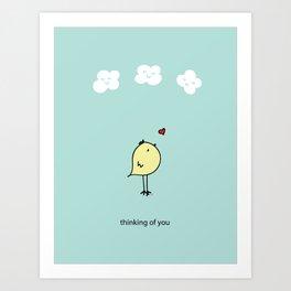Chirp & Whistle Thinking of You Bird Art Print