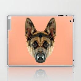 German Shepherd // Peach Laptop & iPad Skin