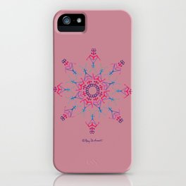 Breathe In & Out Mandala - Pink iPhone Case