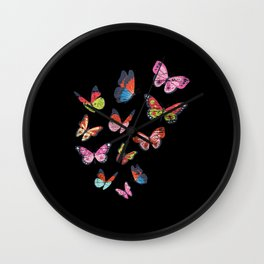 Butterfly Nature Wall Clock
