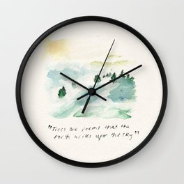 TREES II Wall Clock