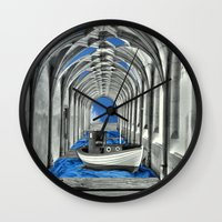 boat Wall Clocks featuring Boat by infloence