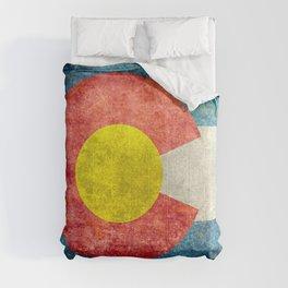 Grungy Colorado Flag Comforters