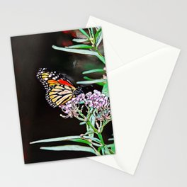 Monarchs Milkweed   oil painting  Stationery Cards