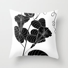 Bone Marrow Tobacco (Also known as Rock Pituri) - Nicotiana gossei Throw Pillow