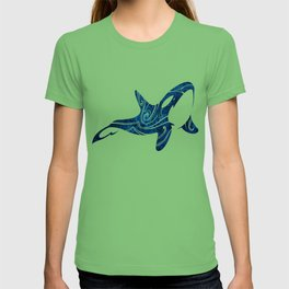 Tribal Orca 2 (blue) T-shirt