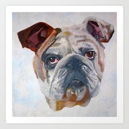 American Bulldog Artistic Pet Portrait Art Print